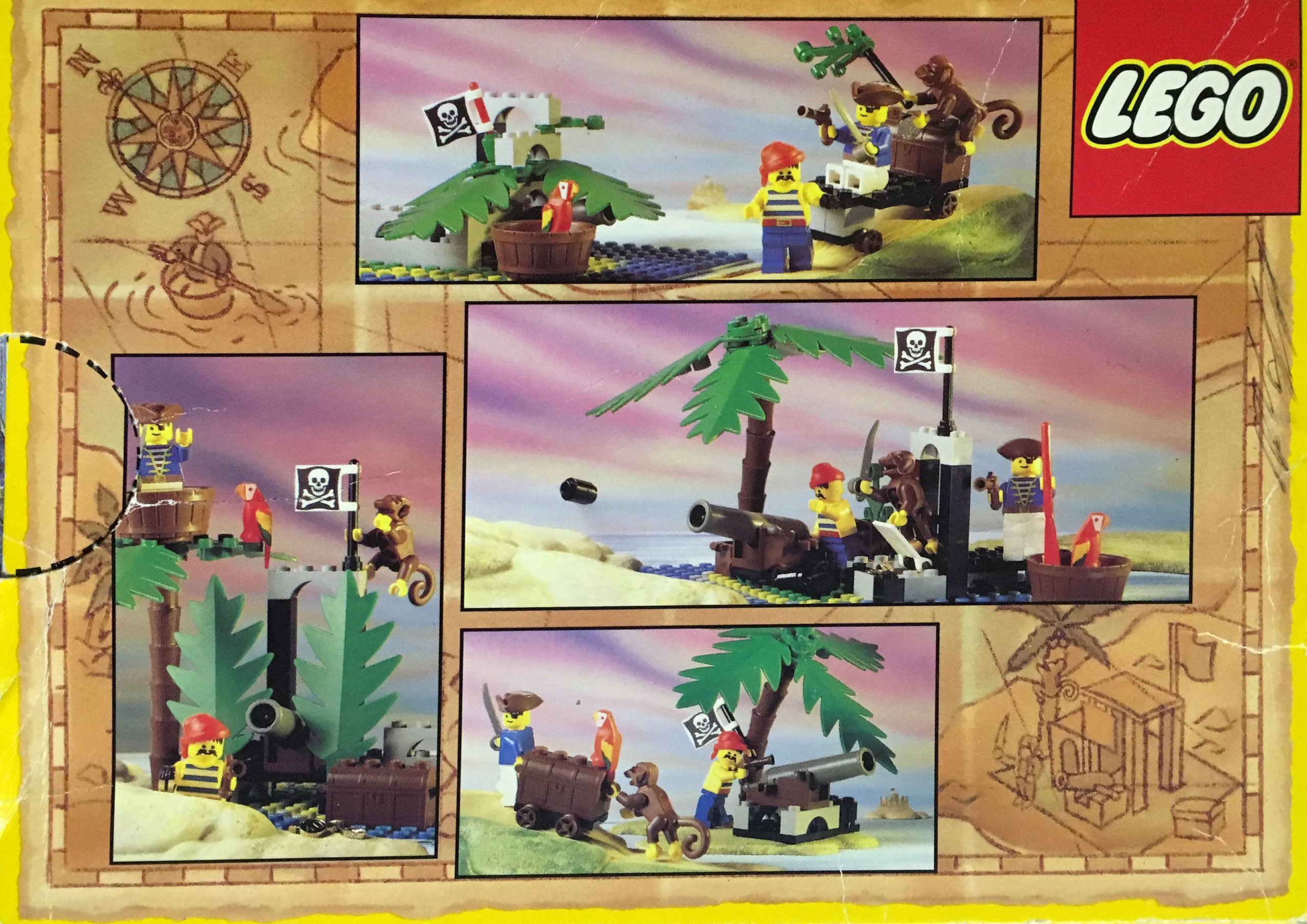 6260 Shipwreck Island Back Of The Box Builds